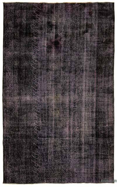 "Purple Over-dyed Turkish Vintage Rug - 5' 7"" x 9'  (67 in. x 108 in.)"