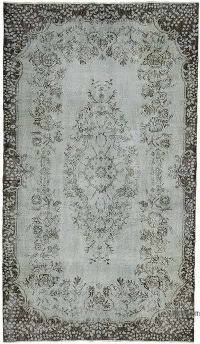 "Grey Over-dyed Turkish Vintage Rug - 5' 7"" x 9' 10"" (67 in. x 118 in.)"
