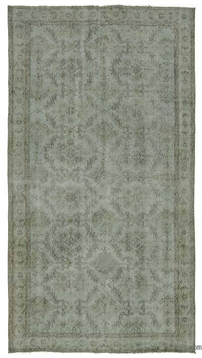 "Over-dyed Turkish Vintage Rug - 4'9"" x 9'3"" (57 in. x 111 in.)"