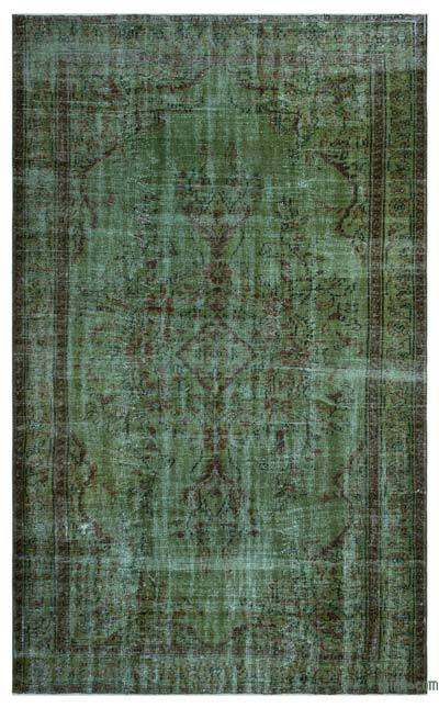 """Over-dyed Turkish Vintage Rug - 5'11"""" x 9'5"""" (71 in. x 113 in.)"""
