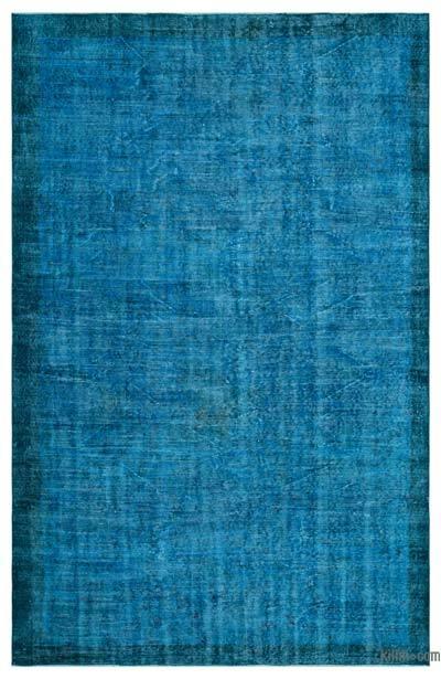 Boyalı El Dokuma Vintage Halı - 175 cm x 267 cm