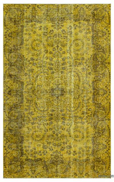 """Over-dyed Turkish Vintage Rug - 5'1"""" x 8'4"""" (61 in. x 100 in.)"""