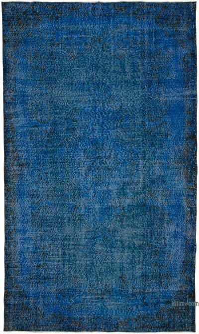 """Over-dyed Turkish Vintage Rug - 5' 6"""" x 9' 5"""" (66 in. x 113 in.)"""