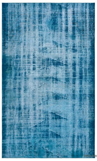 """Over-dyed Turkish Vintage Rug - 5'3"""" x 8'9"""" (63 in. x 105 in.)"""
