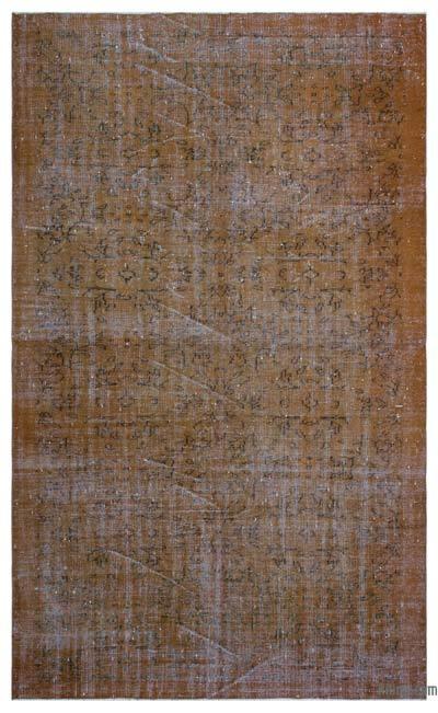 Boyalı El Dokuma Vintage Halı - 178 cm x 296 cm
