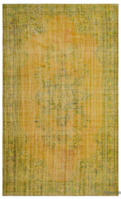 "Over-dyed Turkish Vintage Rug - 6' 4"" x 10' 4"" (76 in. x 124 in.)"
