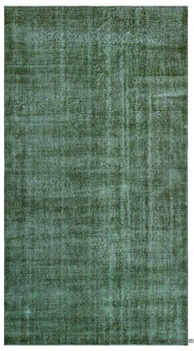 """Over-dyed Turkish Vintage Rug - 5'5"""" x 10'2"""" (65 in. x 122 in.)"""