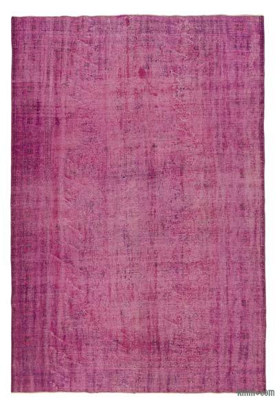 "Over-dyed Turkish Vintage Rug - 6'10"" x 10' (82 in. x 120 in.)"