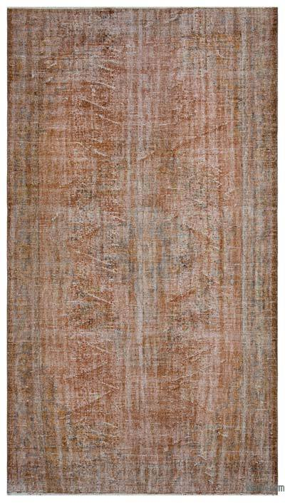 "Over-dyed Turkish Vintage Rug - 5'9"" x 10'2"" (69 in. x 122 in.)"