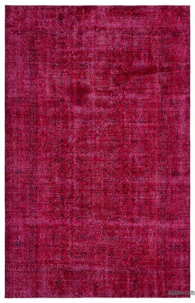 """Over-dyed Turkish Vintage Rug - 6' 6"""" x 10' 2"""" (78 in. x 122 in.)"""