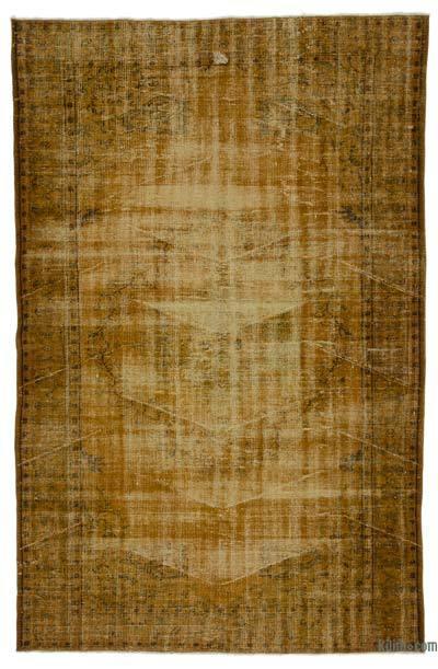 Boyalı El Dokuma Vintage Halı - 184 cm x 282 cm