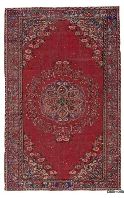 """Turkish Vintage Area Rug - 5' 9"""" x 9' 2"""" (69 in. x 110 in.)"""