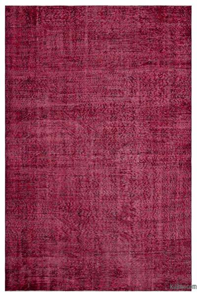 """Over-dyed Turkish Vintage Rug - 6' x 9'4"""" (72 in. x 112 in.)"""