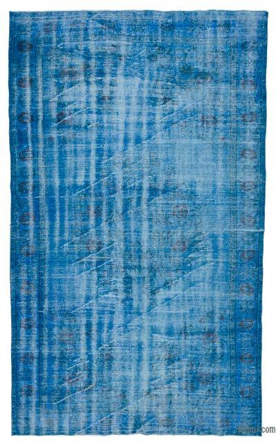 """Over-dyed Turkish Vintage Rug - 5'10"""" x 9'9"""" (70 in. x 117 in.)"""