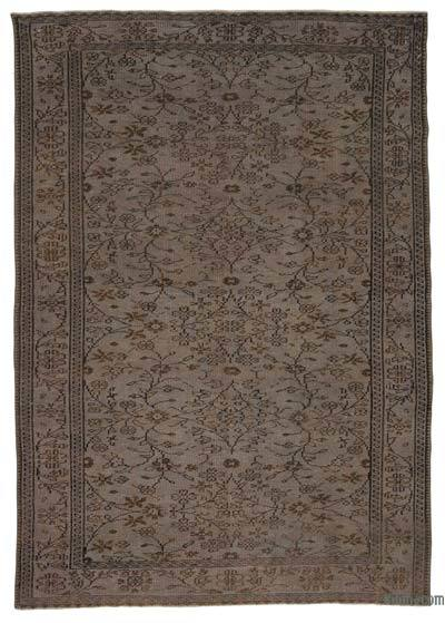 "Over-dyed Turkish Vintage Rug - 6' 1"" x 8' 8"" (73 in. x 104 in.)"