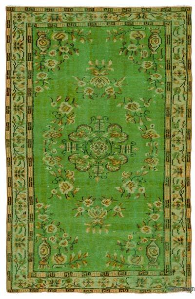 """Turkish Vintage Area Rug - 5'1"""" x 8' (61 in. x 96 in.)"""