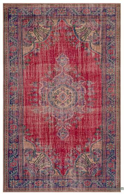 "Turkish Vintage Area Rug - 6'6"" x 10' (78 in. x 120 in.)"