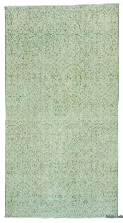 Boyalı El Dokuma Vintage Halı - 110 cm x 210 cm