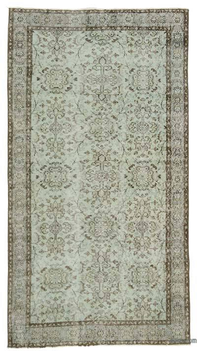 "Green Over-dyed Turkish Vintage Rug - 3' 11"" x 7' 3"" (47 in. x 87 in.)"