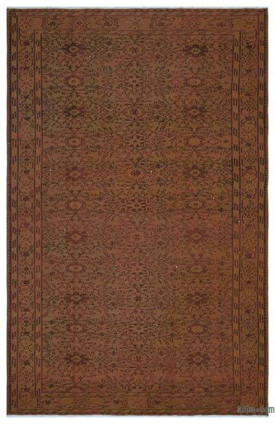 "Over-dyed Turkish Vintage Rug - 5'9"" x 8'9"" (69 in. x 105 in.)"