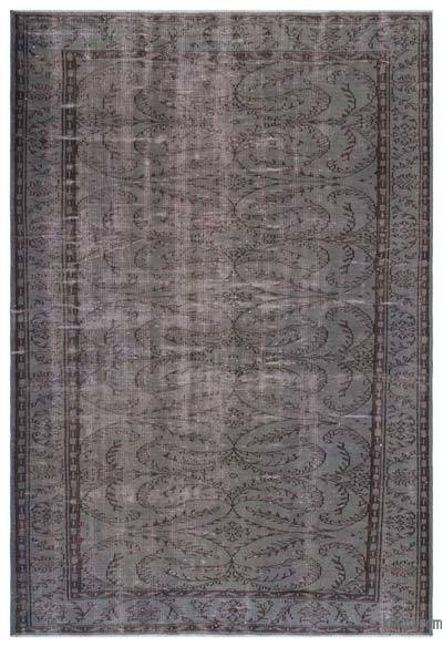 """Over-dyed Turkish Vintage Rug - 6' 3"""" x 9' 1"""" (75 in. x 109 in.)"""