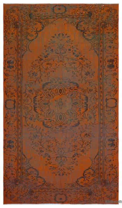 """Over-dyed Turkish Vintage Rug - 5'3"""" x 8'11"""" (63 in. x 107 in.)"""