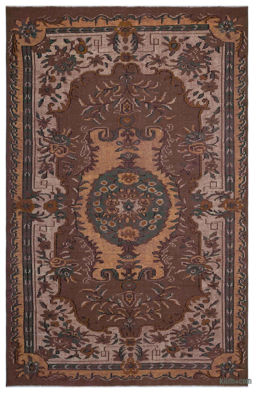 K0031213 Brown Turkish Vintage Area Rug