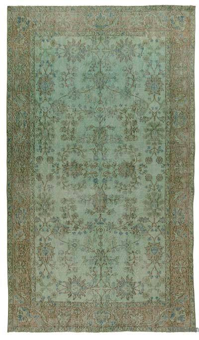 "Over-dyed Turkish Vintage Rug - 5' 1"" x 8' 8"" (61 in. x 104 in.)"