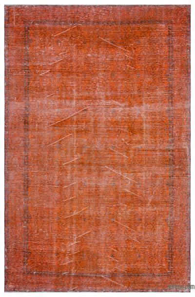 "Over-dyed Turkish Vintage Rug - 6'6"" x 9'8"" (78 in. x 116 in.)"
