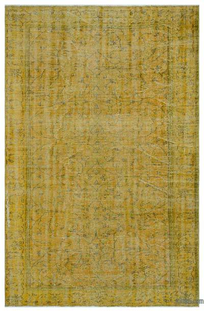 """Over-dyed Turkish Vintage Rug - 6'4"""" x 9'4"""" (76 in. x 112 in.)"""