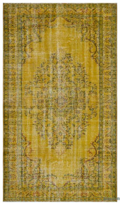 """Over-dyed Turkish Vintage Rug - 6' 1"""" x 10' 4"""" (73 in. x 124 in.)"""