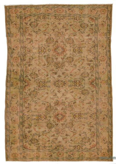 "Over-dyed Turkish Vintage Rug - 5'6"" x 8'2"" (66 in. x 98 in.)"