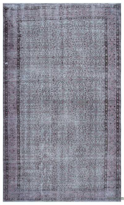 """Over-dyed Turkish Vintage Rug - 5'10"""" x 10' (70 in. x 120 in.)"""