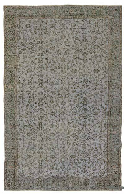 "Over-dyed Turkish Vintage Rug - 5' 9"" x 9' 2"" (69 in. x 110 in.)"