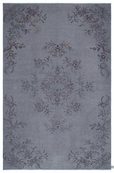 """Over-dyed Turkish Vintage Rug - 5'6"""" x 8'6"""" (66 in. x 102 in.)"""