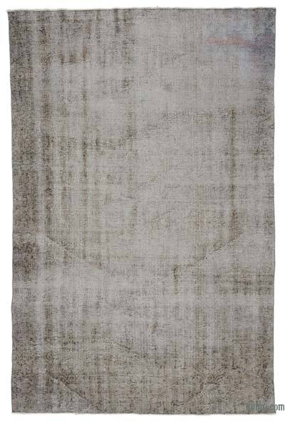"""Over-dyed Turkish Vintage Rug - 5'8"""" x 8'6"""" (68 in. x 102 in.)"""