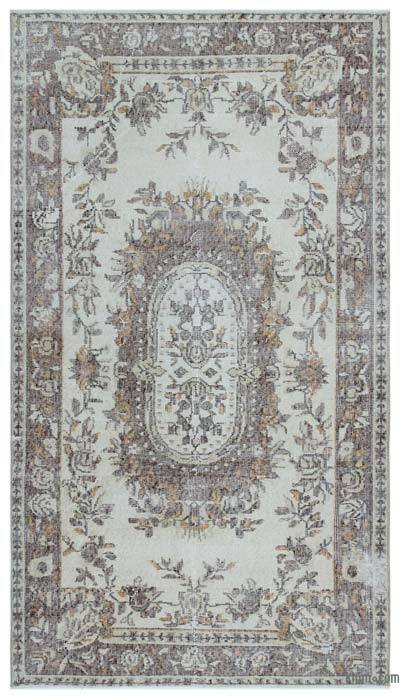 """Turkish Vintage Area Rug - 3' 8"""" x 6' 7"""" (44 in. x 79 in.)"""