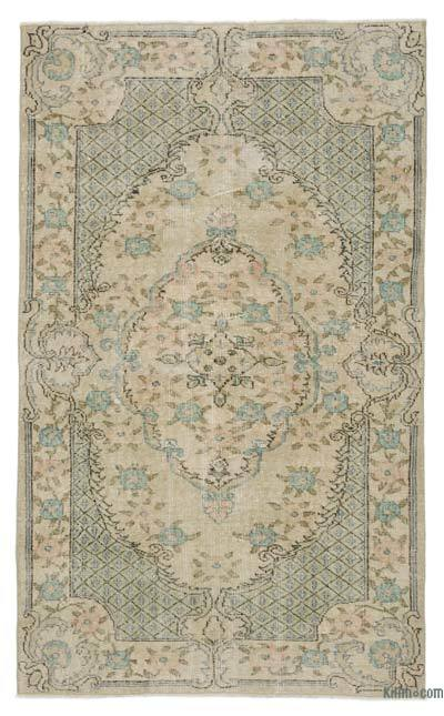 "Turkish Vintage Area Rug - 3'10"" x 6'7"" (46 in. x 79 in.)"