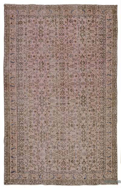 "Over-dyed Turkish Vintage Rug - 5' 11"" x 9' 5"" (71 in. x 113 in.)"