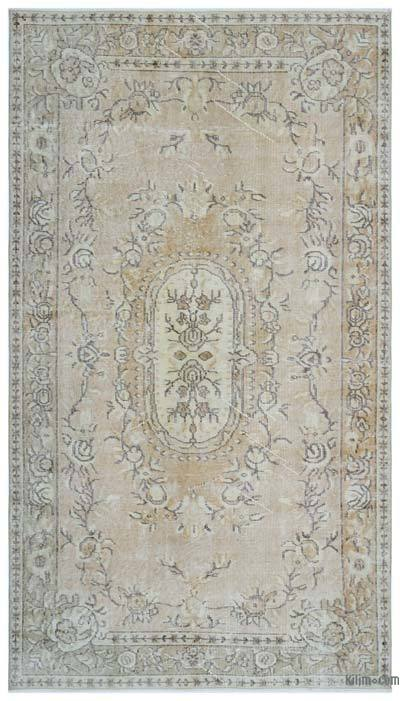 """Over-dyed Turkish Vintage Rug - 4'7"""" x 8'1"""" (55 in. x 97 in.)"""