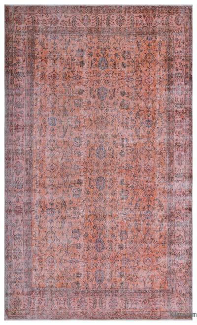 Boyalı El Dokuma Vintage Halı - 191 cm x 320 cm