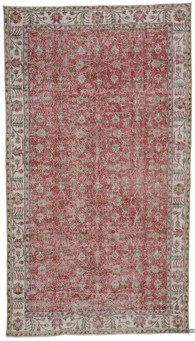 """Turkish Vintage Area Rug - 5'4"""" x 9'5"""" (64 in. x 113 in.)"""