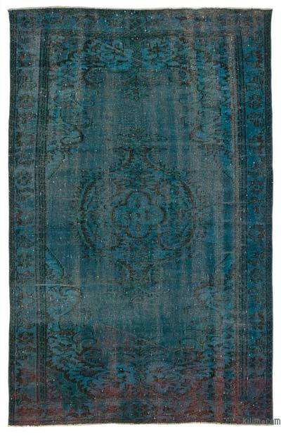 """Over-dyed Turkish Vintage Rug - 5'3"""" x 8'6"""" (63 in. x 102 in.)"""