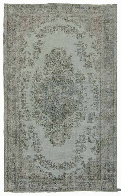 """Over-dyed Turkish Vintage Rug - 5'1"""" x 8'8"""" (61 in. x 104 in.)"""