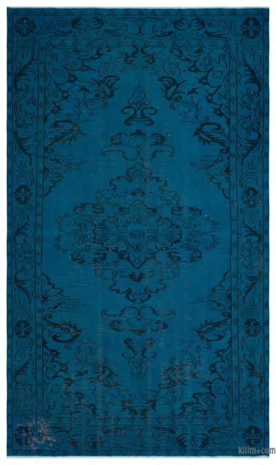 """Over-dyed Turkish Vintage Rug - 5' 9"""" x 9' 10"""" (69 in. x 118 in.)"""