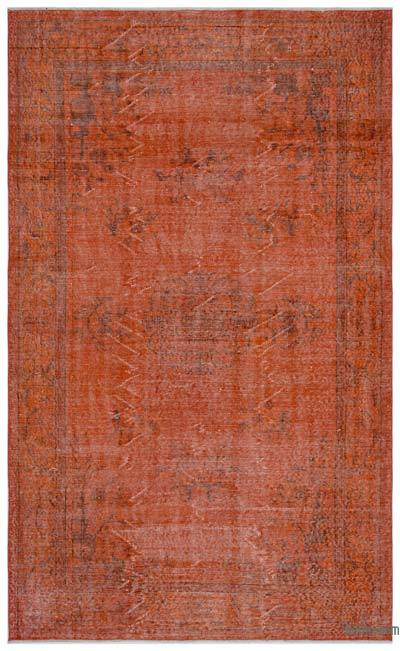 Boyalı El Dokuma Vintage Halı - 158 cm x 260 cm
