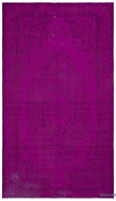 """Over-dyed Turkish Vintage Rug - 5' 4"""" x 9' 3"""" (64 in. x 111 in.)"""