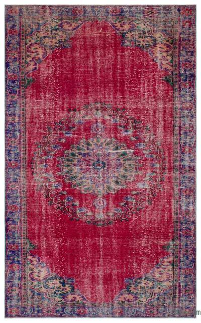 """Turkish Vintage Area Rug - 6' 2"""" x 9' 11"""" (74 in. x 119 in.)"""