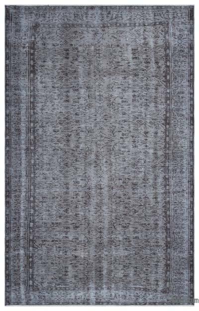 Boyalı El Dokuma Vintage Halı - 180 cm x 290 cm