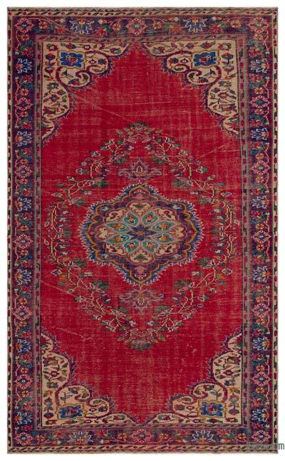 """Turkish Vintage Area Rug - 5'10"""" x 9'5"""" (70 in. x 113 in.)"""